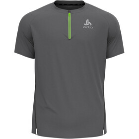 Odlo Axalp Trail T-Shirt S/S 1/2 Zip Men, steel grey